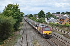 67008 at Magor. 23/9/15 (Nick Wilcock) Tags: wales railways firstgreatwestern dbs magor ews londonpaddington cardiffcentral fgw class67 67008 dbschenker 1z30 ruggex