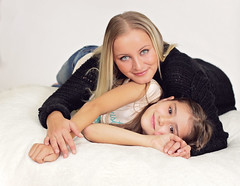 4 (fifa foto) Tags: family portrait woman cute girl beauty hair studio happy eyes sweet daughter mother