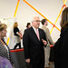 Chancellor Woodson speaks with guests after his speech at the Chancellor's Fall forum.
