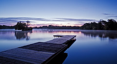 Mystic Dawn (Langstone Joe) Tags: mist sunrise reflections boats dawn jetty hampshire petersfield petersfieldlake mysticdawn petersfieldheathpond langstonejoe