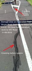 02 Vic Road Federation Trail Demo Work Geelong Rd Brooklyn 11-09-15