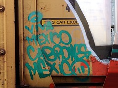 Viva Mexico Cabrones! (UTap0ut) Tags: california ca art cali train bench graffiti la los paint angeles rail socal cal graff freight utapout