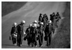 Amish school children (paulh192) Tags: walking children nikon michigan sigma amish barefoot schoolchildren montcalmcounty