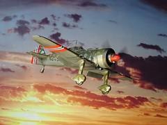 "1:72 Fokker D.XXI-5; aircraft ""440"" of Norwegian Army Air Service's Jagevingen; Fornebu, near Oslo, Norway; April 1940 (Whif/modified PM Models kit) (dizzyfugu) Tags: norway model force conversion mercury britain pegasus aviation air bob battle norwegian kit pm pioneer 172 xxi fictional fokker whatif modellbau d21 spat whif dxxi bristiol dizzyfugu jagevingen"