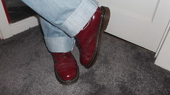 DSCF6691 (rugby#9) Tags: original feet yellow cherry boot hole boots lace dr air 14 7 icon wear size jeans levi stitching comfort sole doc levis cushion soles dm docs eyelets drmartens bouncing airwair docmartens 501 martens dms 501s cushioned wair levi501s doctormarten 14hole yellowstitching