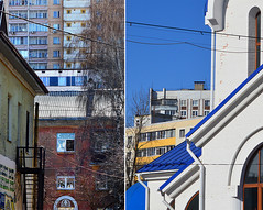 Fresh Style (public domain) (Serge Tchernykov) Tags: city urban colour church window spring time roofs blocks walls viewpoint favela township residents 2015