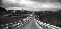 Let's go island hopping! (lunaryuna) Tags: road bw monochrome norway blackwhite bridges journey lunaryuna lofoten islandhopping lofotenislands fundrive northernnorway hittheroadjack lofotenarchipelago