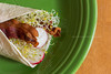 Veggie Wrap... with Bacon (dmoranphotog) Tags: food lunch bacon wrap radish sprouts fiestaware