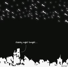 Starry Night (khalid Albaih) Tags: night stars cartoon syria yemen khalid qatar cartoonist  sudanese            illutraion khartoon khalidalbaih