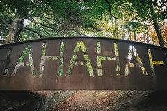 Yorkshire Sculpture Park (Matthew-King) Tags: park bridge sculpture art metal yorkshire rusty wakefield hahahaha