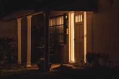 Lit (jst.fd) Tags: door light house night front neighborhood porch saintpetersburg residence