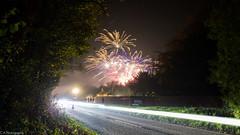 Roadside Firework (C.A.Photogenics) Tags: light colour night contrast long exposure fireworks faringdon