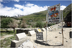 "India Travel Photography ""Road Sign Enfield Point near Keylong"" Himachal Pradesh.114 by Hans Hendriksen (Hans Hendriksen Travel Photography) Tags: voyage travel india mountain nature berg landscape army temple photography gold photo foto view buddha religion natur north pass culture royal natuur police monk buddhism glacier holy monastery monks valley zanskar lama kashmir bergen himalaya landschaft ferien manali himachal indus nord klooster kloster dharamsala jammu enfield dalai landschap cultuur pradesh checkpoint noord rohtang motocycle monch daramsala monnik religie boeddha keylong baralacha sarchu daramshala namgyal reisefotografie boeddhisme baijnath reisebilder zangla reisfotografie reisfoto"