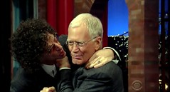 Howard Stern wants to kiss David Letterman (screen capture) (05/11/15) (Gary Dunaier) Tags: howardstern cbs davidletterman lateshowwithdavidletterman kingofallmedia bababooey