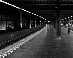 RailWay (xtom.boechler) Tags: blackandwhite bw white black monochrome station noir streetphotography bahnhof topf100 weiss schwarz bnw zürichflughafen zürichairport blackwhitephotos