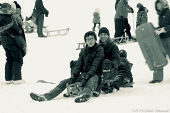 Portrait (Natali Antonovich) Tags: portrait winter sledging sleding sled snow frost monochrome lahulpe lifestyle relaxation mood smile tradition