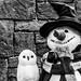 Snowman (_John Hikins) Tags: blackandwhite black white bw nikon d5500 18300 18300mm 18300c nikkor florida snowman harrypotter harry potter grin smile owl universal studios