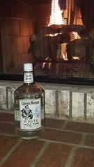 Something You Open (cjacobs53) Tags: jacobs jacobsusa captain morgan captainmorgan white rum whiterum bottle fireplace 117picturesin2017 scavenger hunt