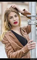 Silvia - 3/5 (Pogdorica) Tags: modelo sesion retrato posado silvia matadero chupa cuero chica sexy