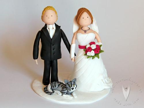 Hochzeitstortenfiguren initialen