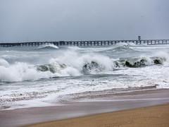 Stormy Seal Beach (jon_nelson12) Tags: wave water ocean landscape shore outdoor coast beach seaside panasonic lumix gx7 california seal storm waves surfing surfer surfers surfboard