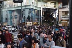 The Shelter (Dominic Sagar) Tags: 2016 fujifilm japan street t050 t100 t200 xt1 crossing people shibuyaku tōkyōto jp
