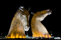 The Kelpies, Yellow.jpg (___INFINITY___) Tags: 6d andyscott falkirk kelpies thehelix architect architecture canon darrenwright dazza1040 eos horse infinity light longexposure monument night red scotland statue
