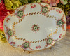 Haviland Limoges Porcelain Tray ~ Pink Rose Swags ~ Drop Rose ~ Gold (Donna's Collectables) Tags: haviland limoges porcelain tray ~ pink rose swags drop gold
