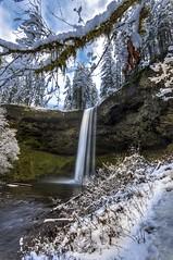 Upper South Falls (Mstraite) Tags: waterfall waterfalls water river stream park oregon silver tree green blue canon tripod slow