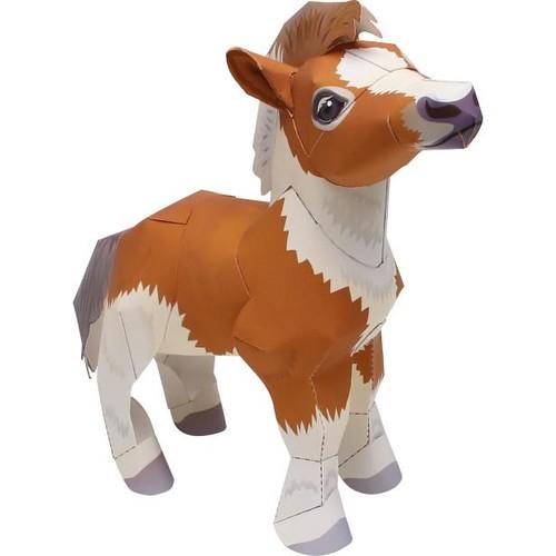 Canon Papercraft Animal Paper Model Falabella Miniature Horse