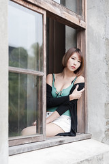 DSC_5790 (錢龍) Tags: 希維亞 小希 文創園區 外拍 beauty sexy nikon d700 girl 短髮