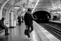IMG_9154 (::Lens a Lot::) Tags: mamiyasekor 58mm ƒ17 1974 | 10 blades aperture m42 mount ƒ4 paris 2016 black white street photography vintage manual japanese prime lens noir et blanc monochrome metro subway underground gate texte depth field dof bokeh