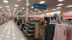 Menswear, toward the left side of the store (Retail Retell) Tags: target mansfield oh ohio p01 décor retail store calm neon