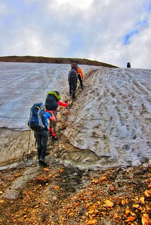 Iceland ~ Landmannalaugar Route ~  Ultramarathon is held on the route each July ~ Hiking to New Camp Site