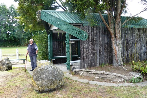 Entrance to Matahiwi Marae, a Maori Reservation in Hawke's Bay, Hawke's Bay, New Zealand