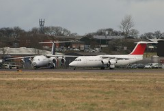 Cranfield BAe 146's (nickthebee) Tags: cranfield aircraft bae146