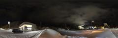Panoramic Mount Racey in Night (sjrankin) Tags: 24february2017 edited yubari hokkaido japan mountracey panorama honcho conveniencestore night skirun hotel 360degrees