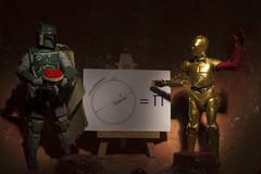 Boba Fett + The Sarlacc 63 - Pi Day 2017 (Mac Spud) Tags: bobafett starwars sarlacc greatpitofcarkoon humour pi piday c3po droid robot pie mathematics