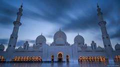 Oasis (...Kush...) Tags: uae abudhabi dubai sheikhpayedgrandmosque mosque religion sunset longexposure