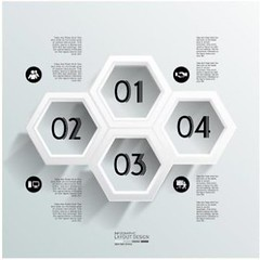 free vector Modern abstract hexagonal infographic templates (cgvector) Tags: 3d abstract advertising art background banner brochure business clean clip concept connection creative data design dynamic element elements form geometric gexagon hexagon hexagonal icons info infographic infographics information label layout leaflet menu modern navigation number office options pattern realistic set sign step style symbol tab tag template templates vector web website