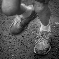Never:Too:Old (BazM:Photog.......:-)) Tags: bw blur feet blackwhite moving movement legs oldman running racing veteran jogging wrinkles whitesocks laces jogger runningshoes horwich wrinkled shoelaces bazmatthews festivalofracing