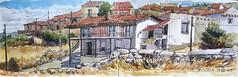 Casas de Pesquera (P.Barahona) Tags: pluma acuarela casas urbansketchers pbarahona