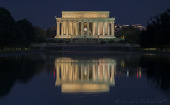Lincoln Memorial, Blue Hour (D. Scott McLeod) Tags: reflection washingtondc dc districtofcolumbia lincolnmemorial bluehour scottmcleod dscottmcleod
