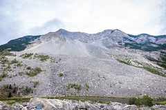 The Frank Slide in Crowsnest Pass, Canada.