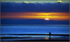 Another Place revisited (* RICHARD M) Tags: blue beach clouds liverpool reflections sundown shoreline silhouettes statues sunsets hills waterloo coastal maritime rivers beaches coastline publicart sculptures scapes crosby coasts antonygormley merseyside brightonlesands northwales sefton seaforth waterloosunset lightandshade anotherplace rivermersey publicartwork ironmen welshhills europeancapitalofculture blundellsands lastofthelight maritimemercantilecity