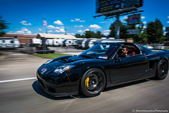 Honda NSX (globalautomotivesphotography) Tags: road cruise blue black yellow speed america honda skies shot unitedstates outdoor fast icon loud rolling timeless nsx flyby rollingshot