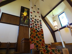 DSC04160 (Michael S in Seattle) Tags: sacredspace fabricart wallingfordumc sanctuaryart welcomesunday2015