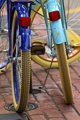 IMG_3185_Showing the treads.. (lada/photo (on a road)) Tags: blue wheels bicycles shadesofblue ladaphoto