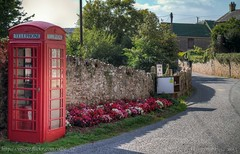 Devon Village..  Luton (Ollie_57.. on/off) Tags: road uk flowers autumn trees england grass wall canon buildings landscape architechture flora village oct devon 7d hdr telephonebox luton 2015 ef24105mm ollie57 saariysqualitypictures