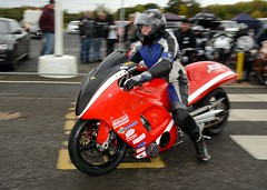 Hayabusa turbo (Fast an' Bulbous) Tags: santa autumn england pits bike race speed drag pod nikon october power gimp fast strip motorcycle biker rider motorsport acceleration d7100